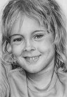Pencil portrait of Avery by LateStarter63