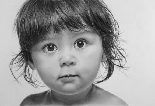 Pencil portrait of Alyzza
