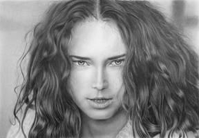 Pencil portrait of Anna by LateStarter63