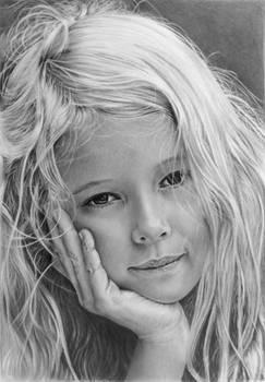 Pencil portrait of Alisa