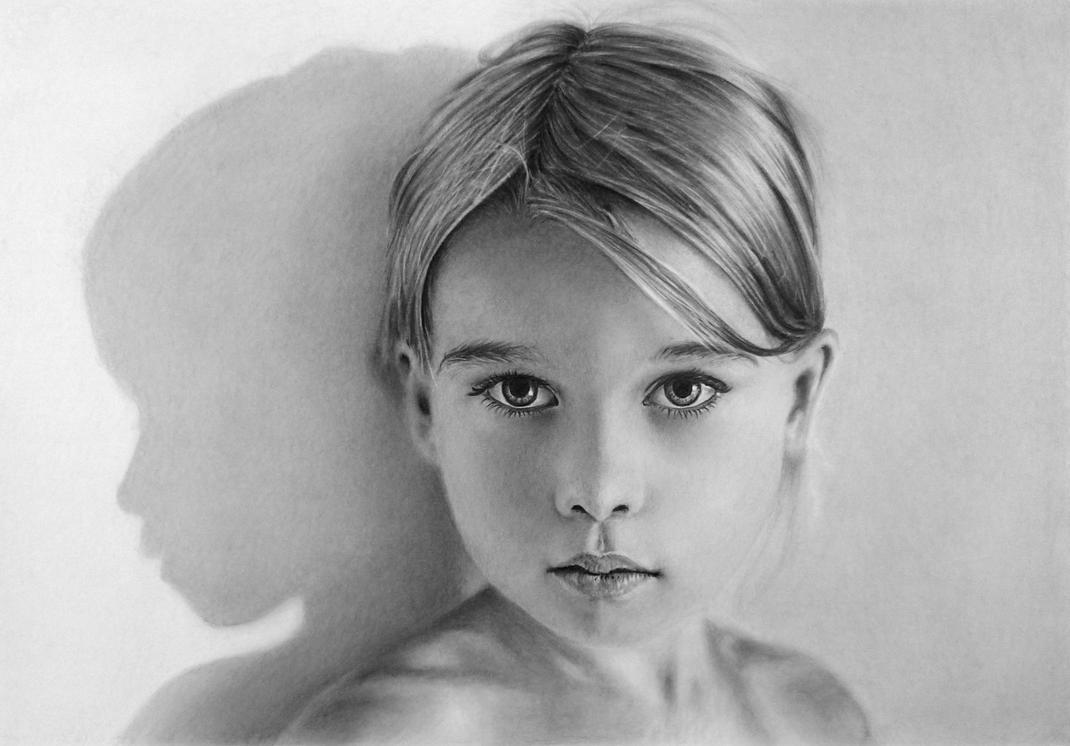 Pencil portrait of Kira by LateStarter63