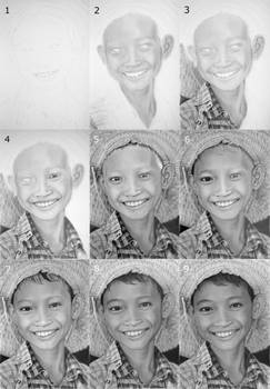 Myanmar (Burma) drawing progress