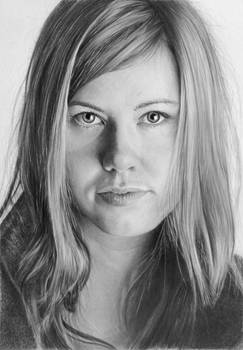 Pencil portrait of Johanna