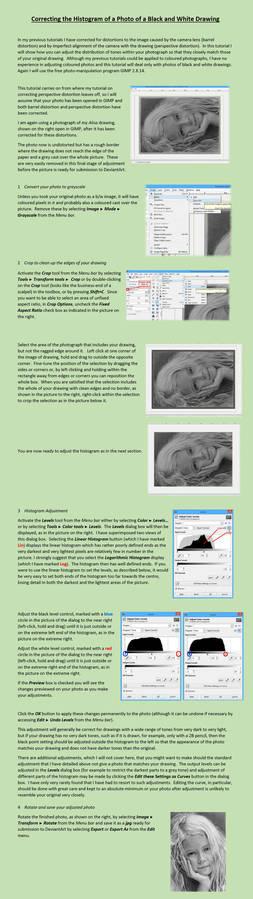 Histogram adjustment tutorial for graphite drawing
