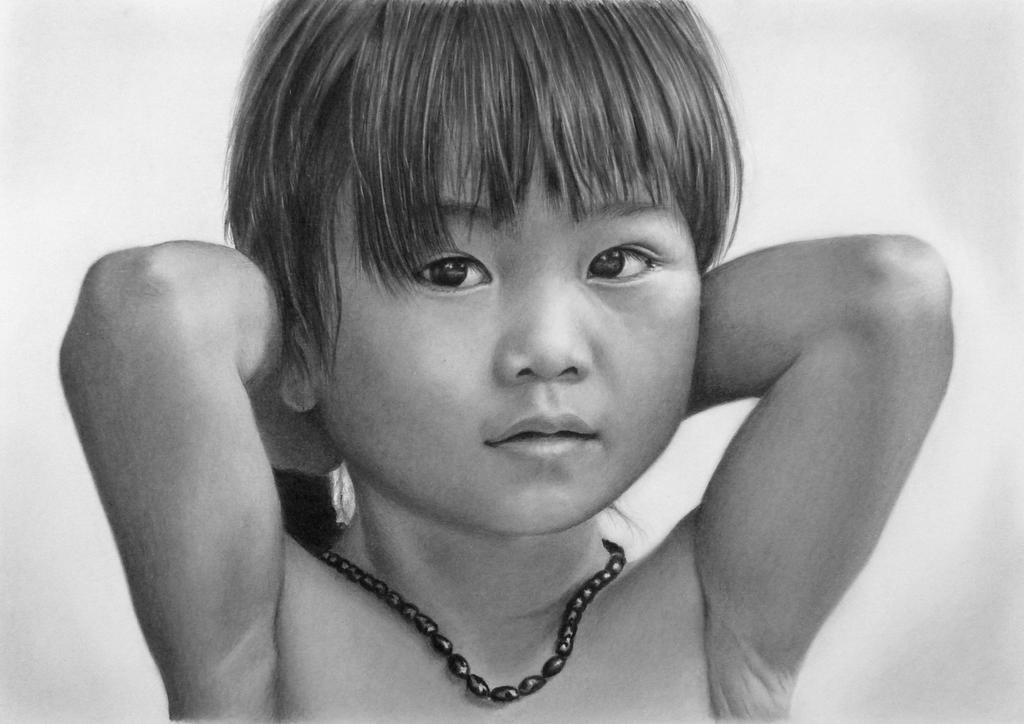 Pencil portrait of Tam Nhu by LateStarter63