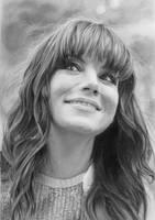 Pencil portrait of Michelle by LateStarter63