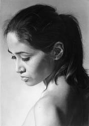 Pencil portrait of Jen (2019) by LateStarter63