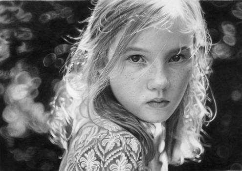 Pencil portrait of Veronika