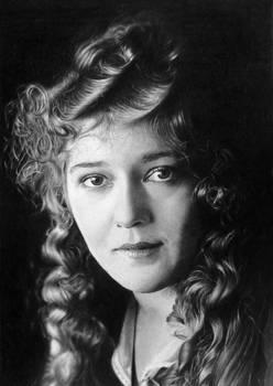 Pencil portrait of Mary Pickford