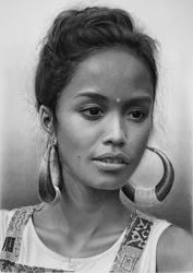 Pencil portrait of Putri