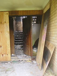 Old stock burned down stairs 2