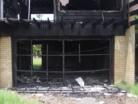 Old stock burned down house 3