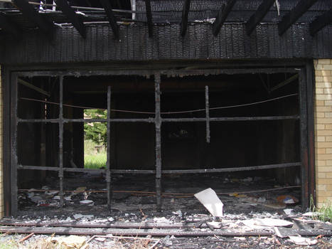Old stock burned down house 4