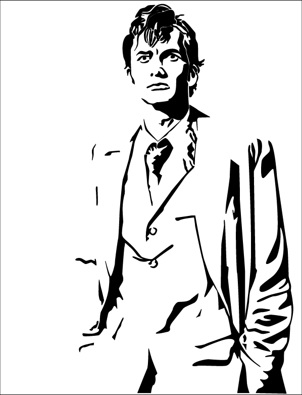 Line Drawing Of A Doctor : Doctor who line art pictures to pin on pinterest daddy