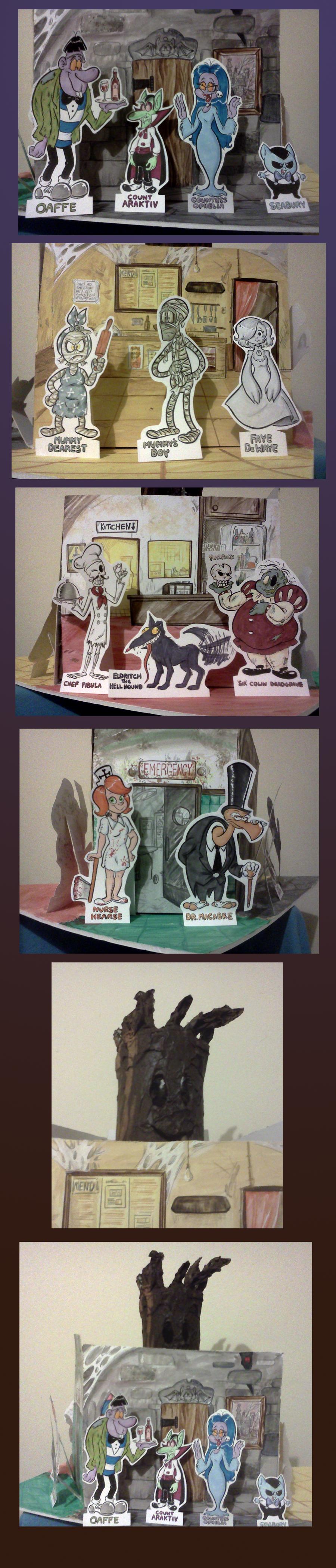 Creepbury Close Diorama by TopperHay