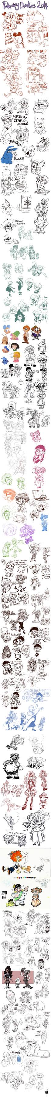 February Doodles 2014