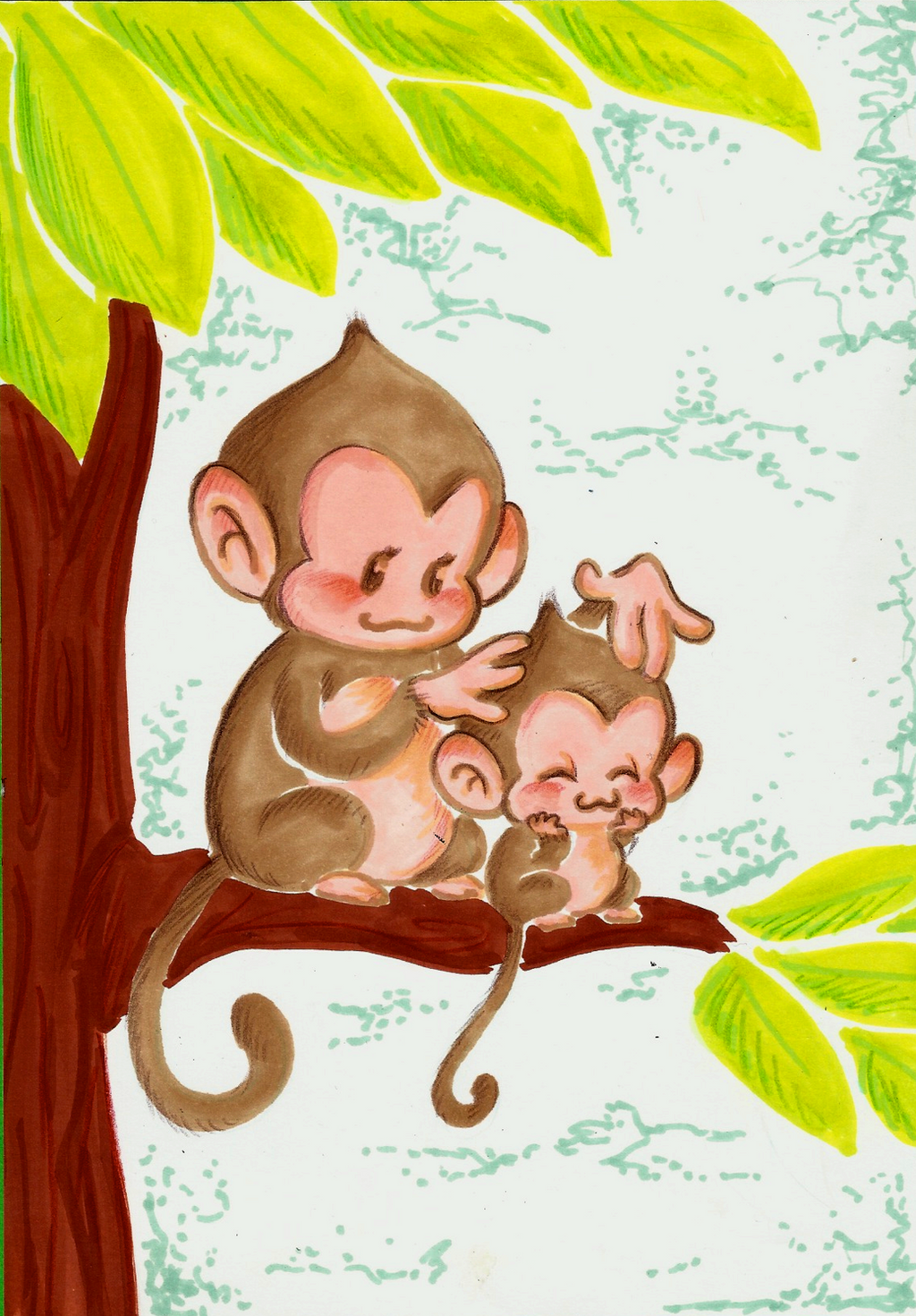 Monkey Mothers Day by TopperHay Monkey Mothers Day by TopperHay