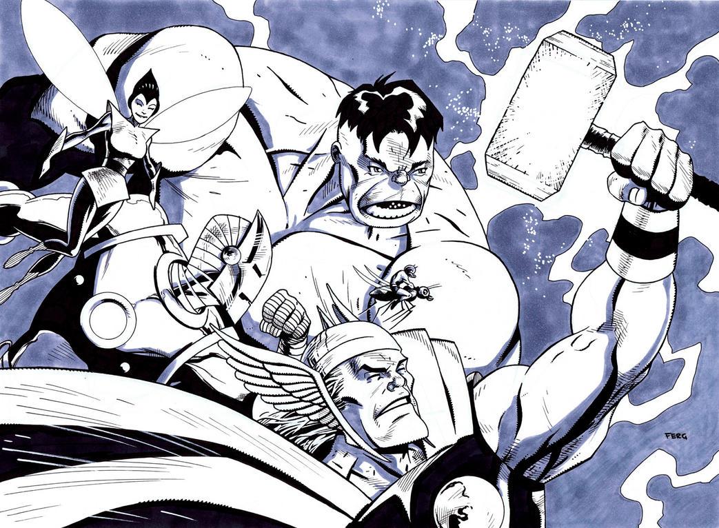 Avengers Assemble by LeeFerguson