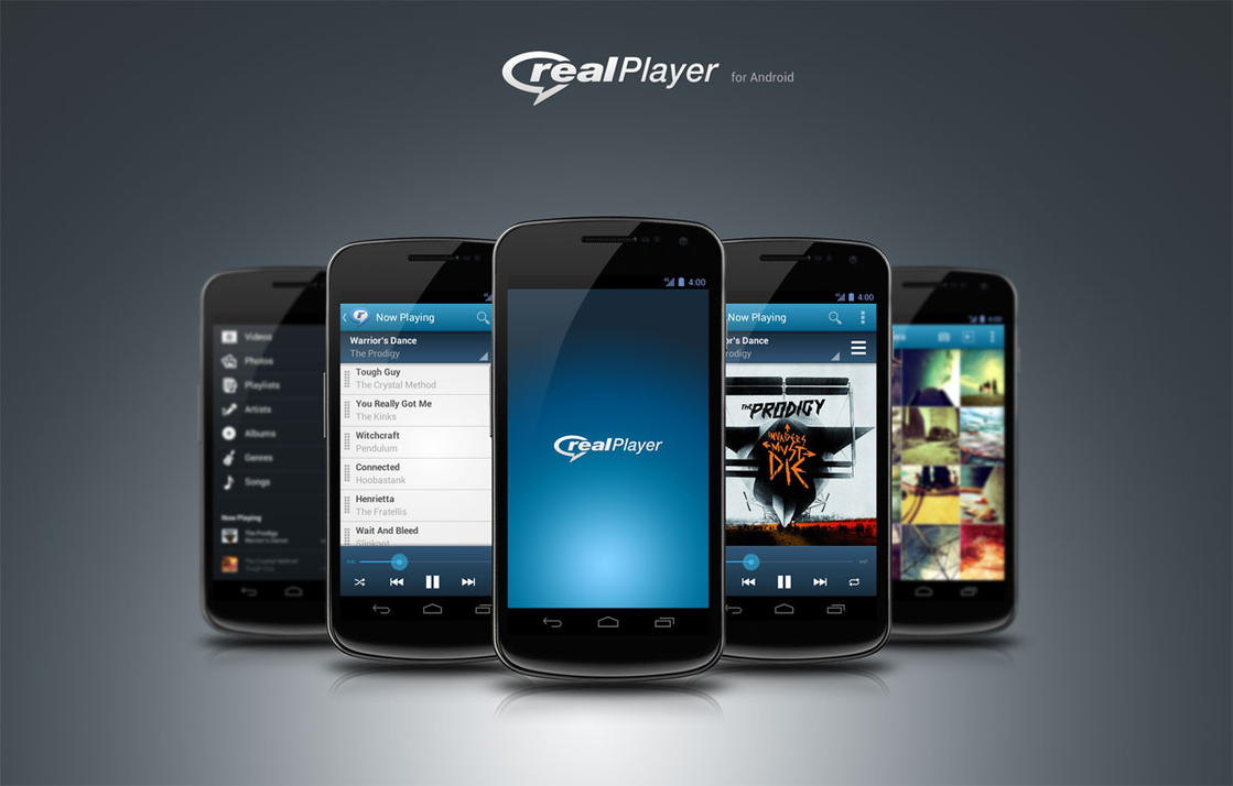 RealPlayer Mobile App UI by reap