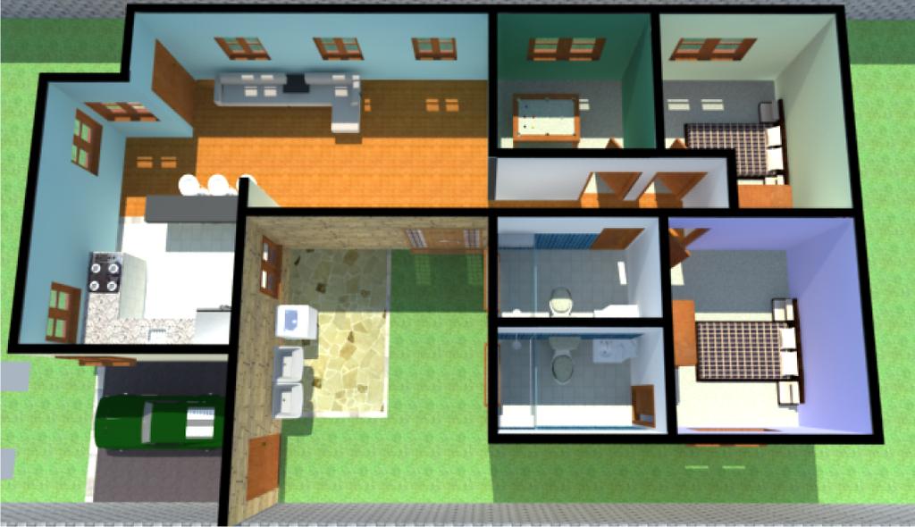 Projeto casa by argollo on deviantart - Casas para construir modelos ...
