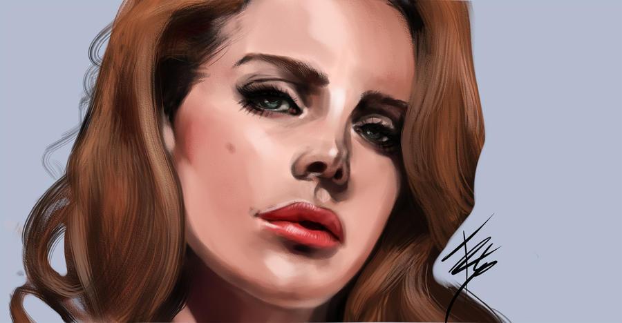 Lana del Rey Portrait by tracetincin