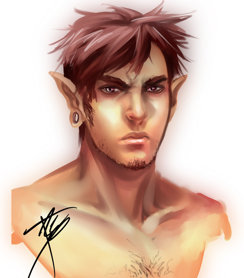 Male Elf Sketch Updated By Tracetincin