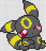 Umbreon pixel art by sweetsncake