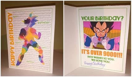 DBZ Birthday Card by 0TashArt0