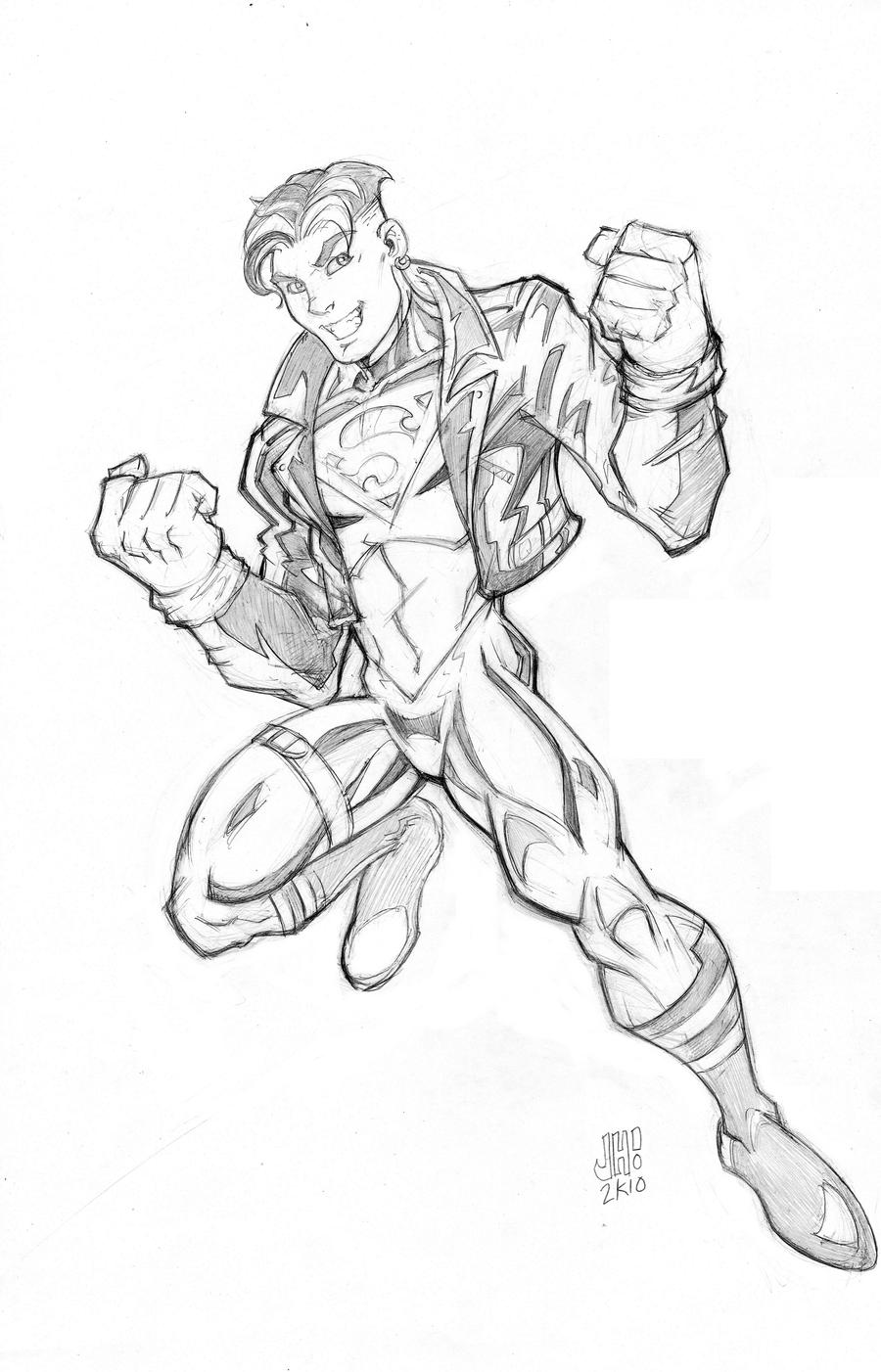 Superboy Young Justice Style By Diecast75 On Deviantart Justice Superboy Coloring Pages Free