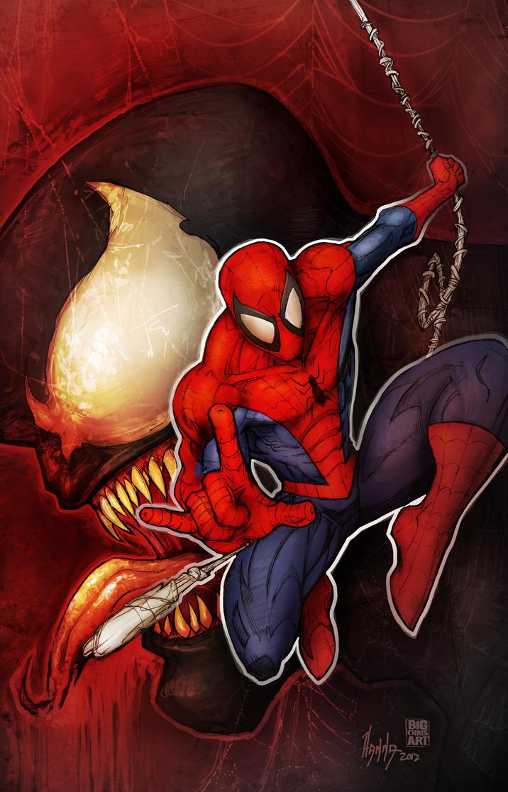 spiderman and venom by diecast75