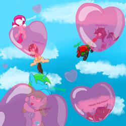 Love bubbles strike!
