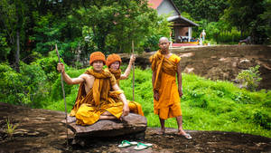 Northern Thailand Monks (Rural) by zerosource