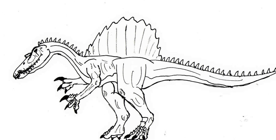 Spinosaurus Coloring Pages Printable Coloring Pages