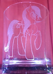 Starry Cotton glass engravin by BronyCars