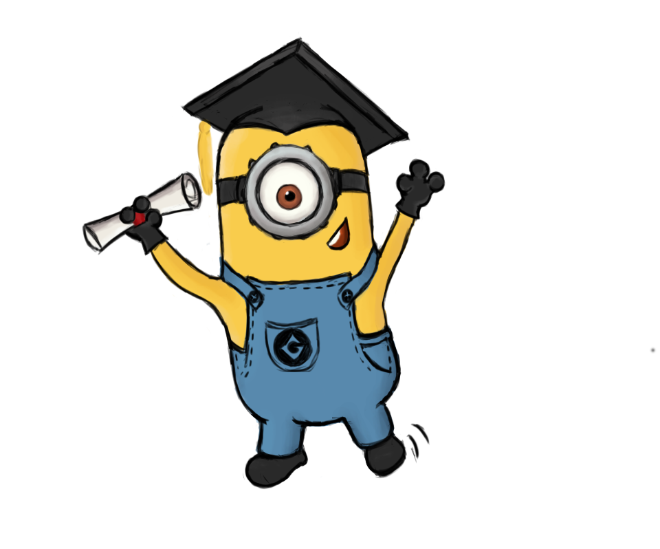 Graduating Minion by CelaLemos on deviantART
