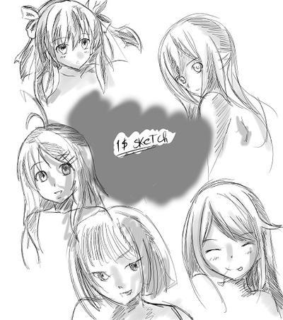 1 Dollar Sketchs by Ivy-Mitsuno