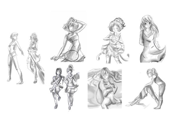 Sketches by Ivy-Mitsuno