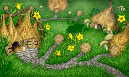 Village of the Field Mice by Snafflepod