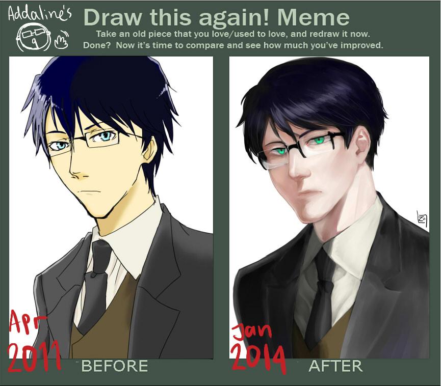 2014 draw this again meme by addaline
