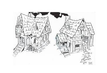 Medieval inn study by Tatonkus