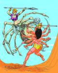 Durga vs a Spiderwoman