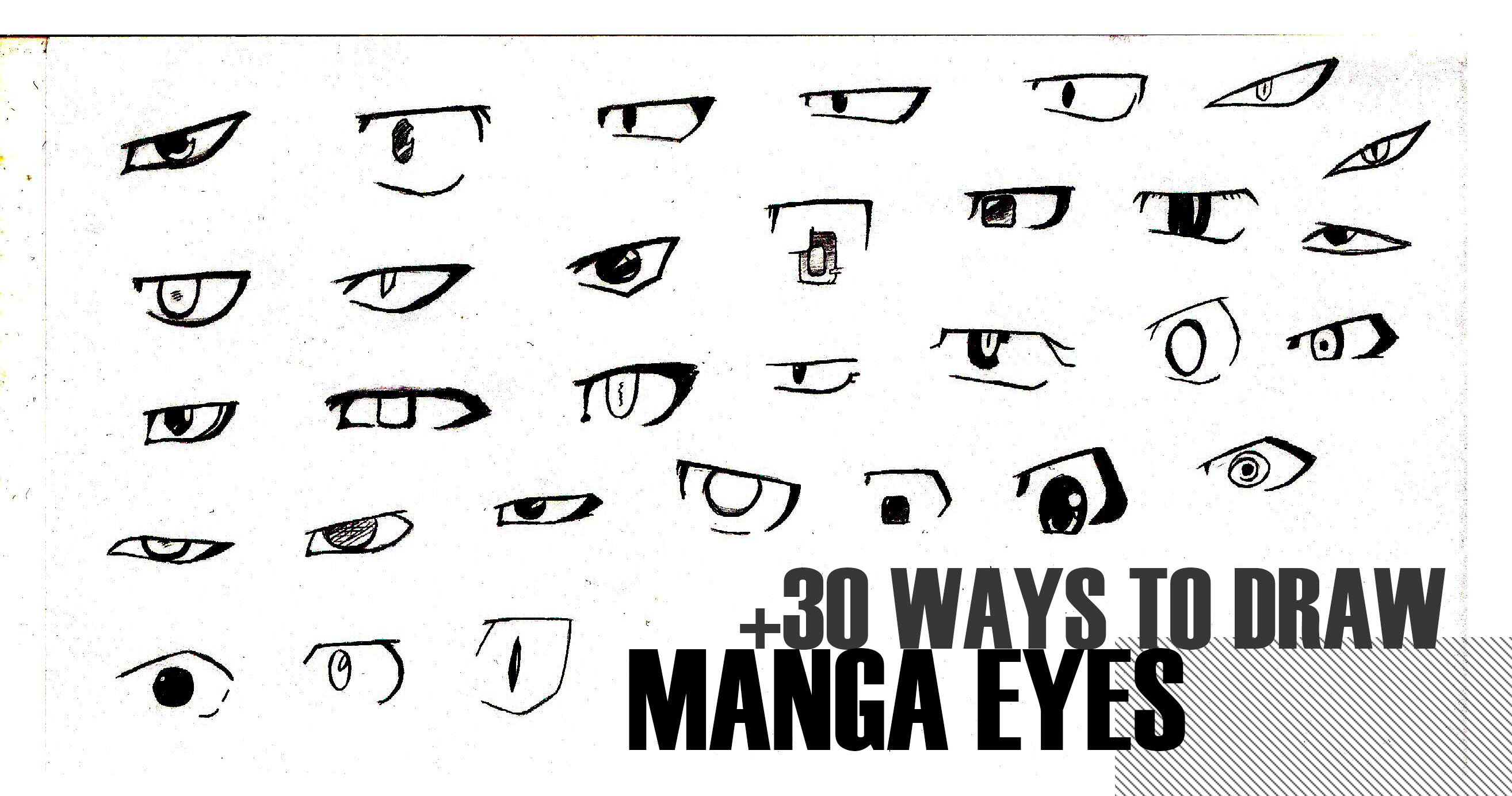 Ways To Draw Manga Eyes By MangakaOfficial