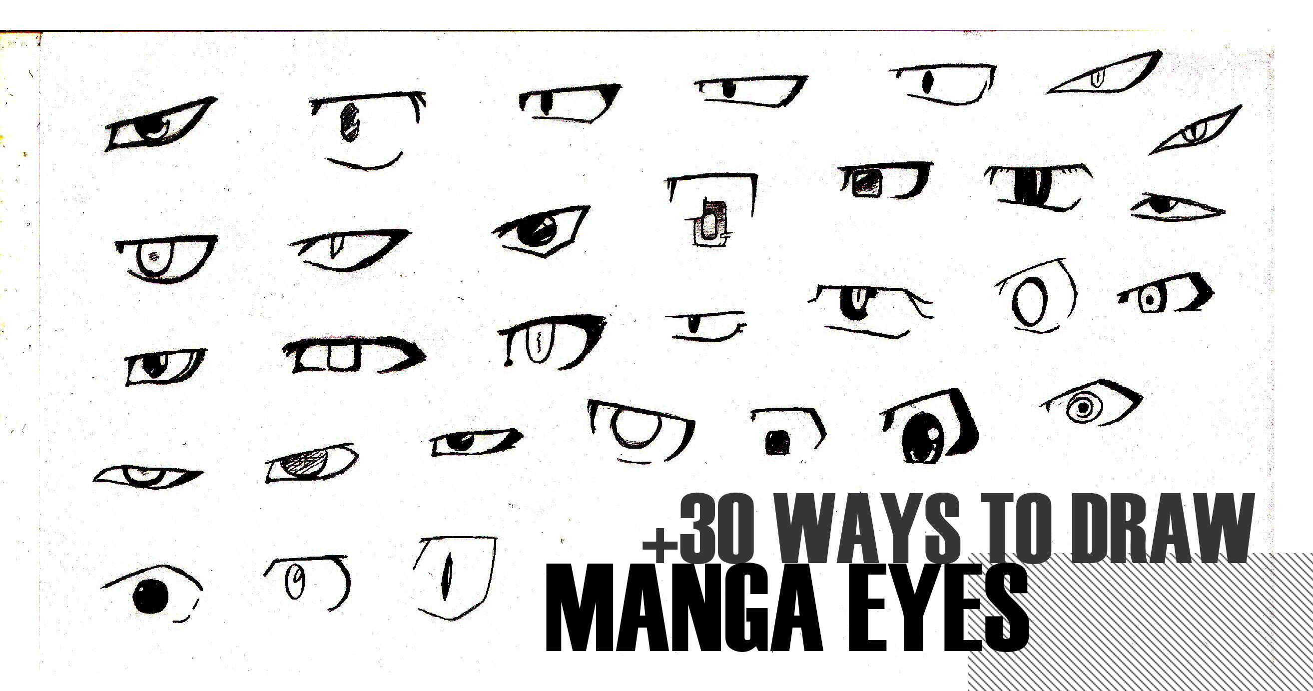 +30 Ways To Draw Manga Eyes By Mangakaofficial