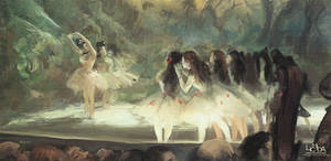 Ballet at the Paris Opera by Lichida
