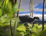 Dilophosaurid Speedpaint by Midiaou