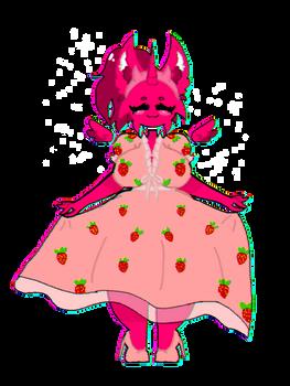 Me wearing strawberry dress