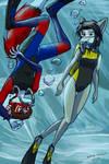 Samuil and Ikrisia diving
