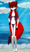 Cecilia at the beach by kitfox-crimson