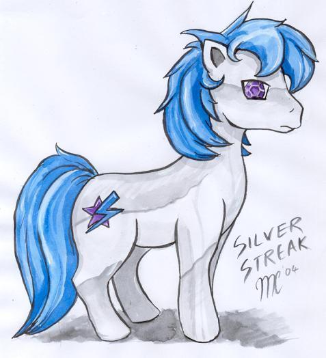Silverstreak da pony by kitfox-crimson