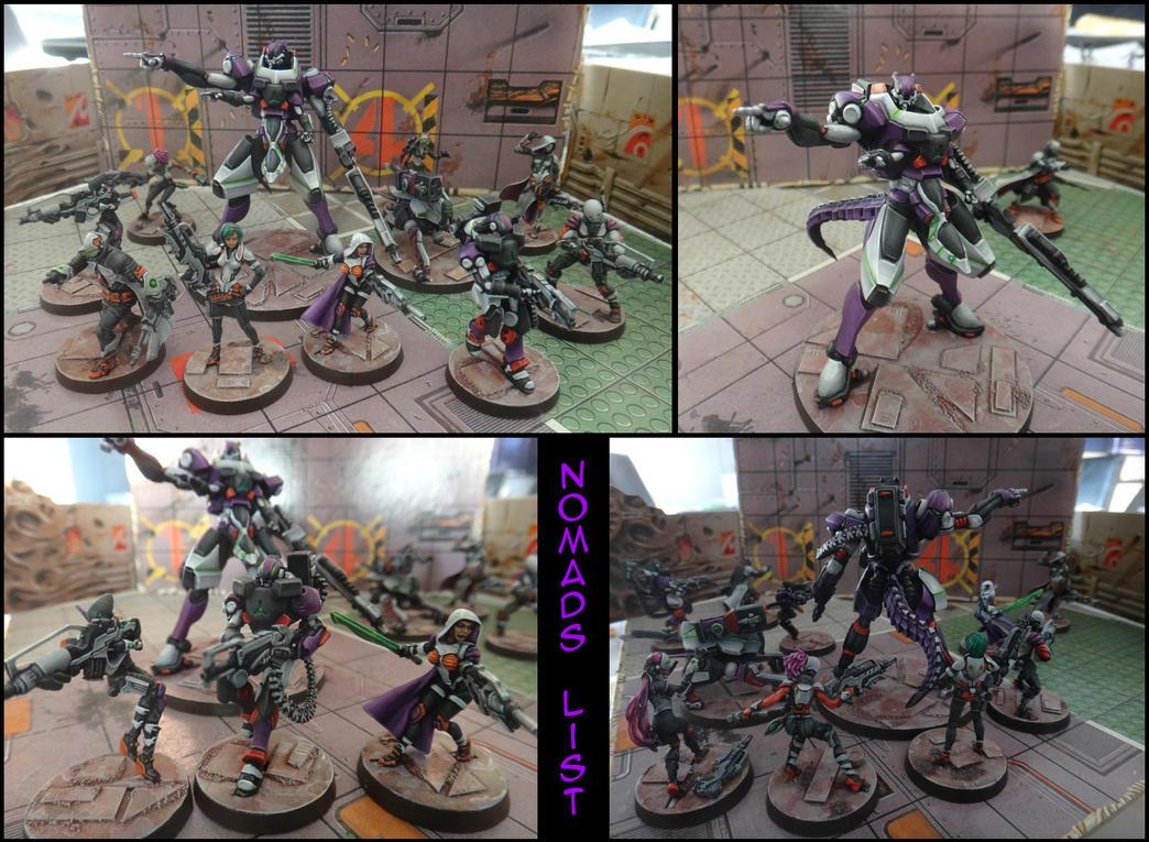 My 300pt Nomads list for Infinity by kitfox-crimson